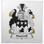 Escudo de la familia de Haswell Servilleta De Papel