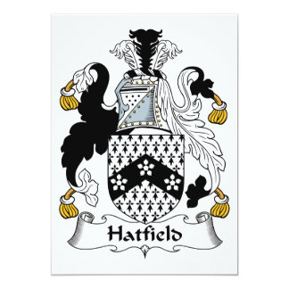 Escudo de la familia de Hatfield Invitaciones Personalizada