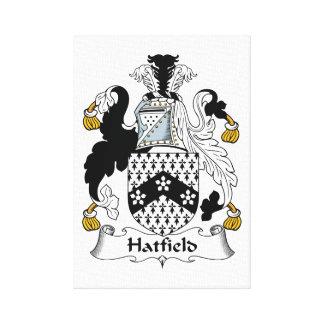 Escudo de la familia de Hatfield Impresión En Lona Estirada