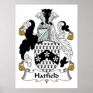 Escudo de la familia de Hatfield Posters
