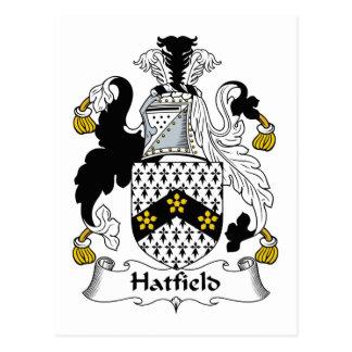 Escudo de la familia de Hatfield Tarjeta Postal