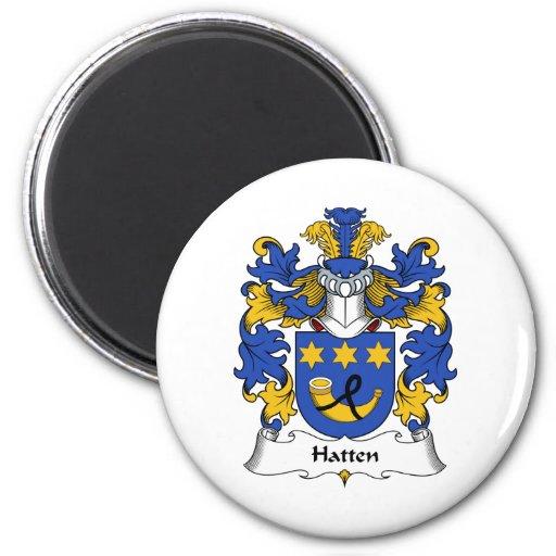 Escudo de la familia de Hatten Imán Redondo 5 Cm