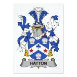 Escudo de la familia de Hatton Invitación 12,7 X 17,8 Cm
