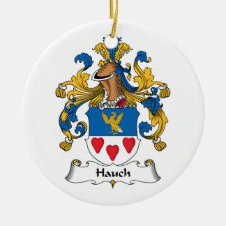 Escudo de la familia de Hauch Adorno Redondo De Cerámica