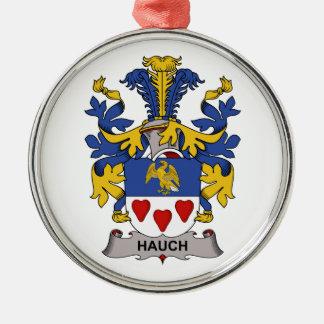 Escudo de la familia de Hauch Adorno Redondo Plateado