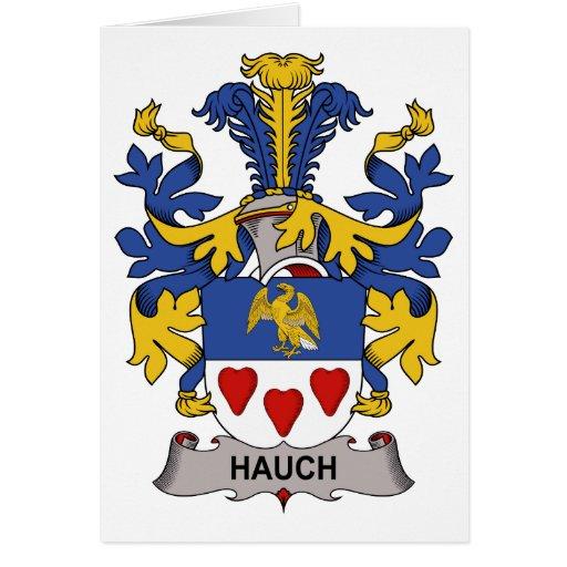 Escudo de la familia de Hauch Tarjeta De Felicitación
