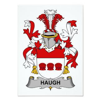 """Escudo de la familia de Haugh Invitación 5"""" X 7"""""""