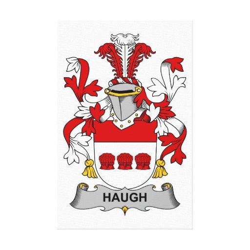 Escudo de la familia de Haugh Lienzo Envuelto Para Galerias