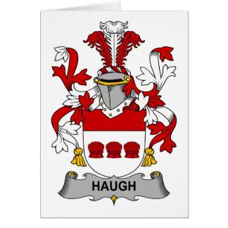Escudo de la familia de Haugh Tarjeta De Felicitación