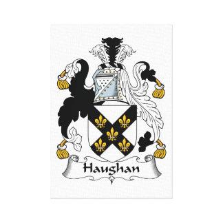 Escudo de la familia de Haughan Impresión En Lienzo Estirada