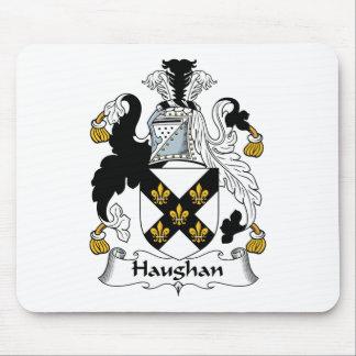 Escudo de la familia de Haughan Tapetes De Ratón