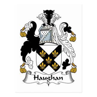 Escudo de la familia de Haughan Tarjetas Postales