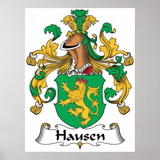 Escudo de la familia de Hausen Poster