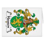 Escudo de la familia de Hausen Tarjeta
