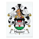 Escudo de la familia de Hauser Invitación 16,5 X 22,2 Cm