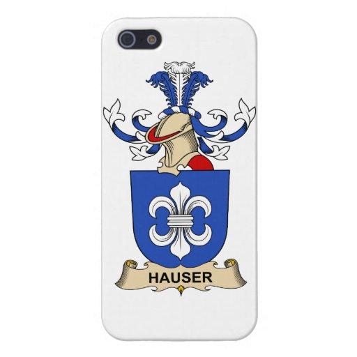 Escudo de la familia de Hauser iPhone 5 Fundas
