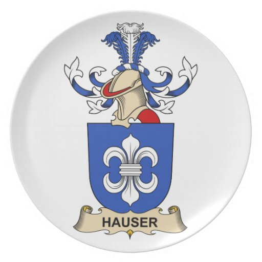Escudo de la familia de Hauser Platos De Comidas