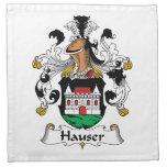 Escudo de la familia de Hauser Servilletas Imprimidas