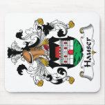 Escudo de la familia de Hauser Alfombrilla De Ratón