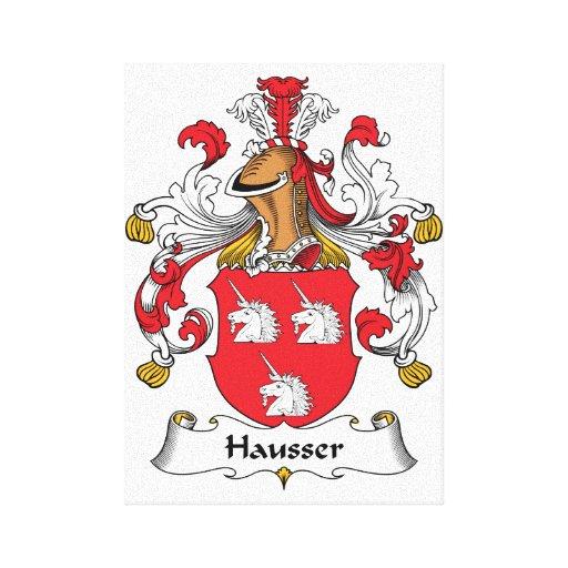 Escudo de la familia de Hausser Impresiones De Lienzo