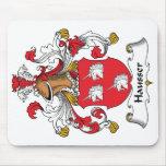 Escudo de la familia de Hausser Tapetes De Ratón