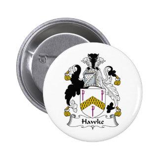 Escudo de la familia de Hawke Pin Redondo De 2 Pulgadas
