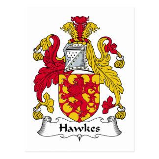 Escudo de la familia de Hawkes Tarjeta Postal