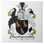 Escudo de la familia de Hawkesworth Tejas Cerámicas