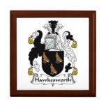 Escudo de la familia de Hawkesworth Cajas De Recuerdo