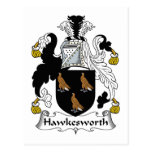 Escudo de la familia de Hawkesworth Tarjetas Postales