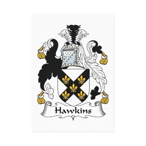 Escudo de la familia de Hawkins Impresión En Lona Estirada