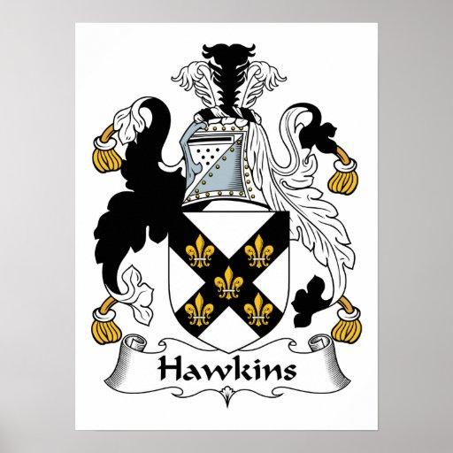 Escudo de la familia de Hawkins Poster