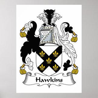 Escudo de la familia de Hawkins Póster