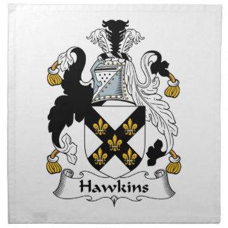 Escudo de la familia de Hawkins Servilletas