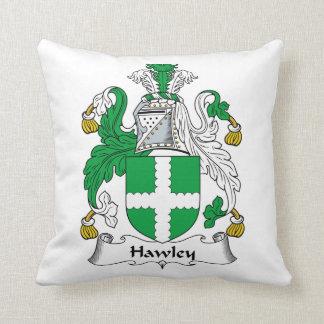 Escudo de la familia de Hawley Cojin