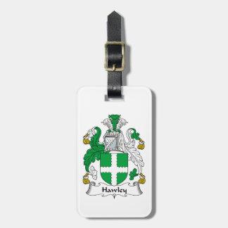 Escudo de la familia de Hawley Etiquetas Para Equipaje