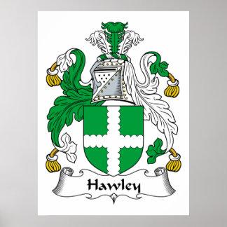 Escudo de la familia de Hawley Impresiones