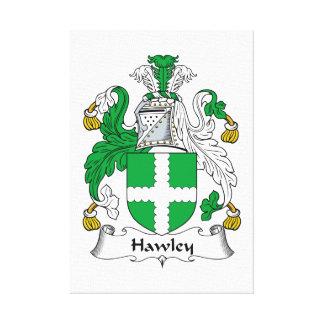 Escudo de la familia de Hawley Impresión En Lona Estirada