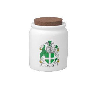 Escudo de la familia de Hawley Plato Para Caramelo