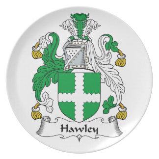 Escudo de la familia de Hawley Platos