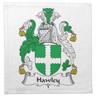 Escudo de la familia de Hawley Servilleta