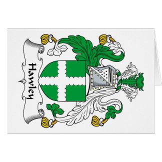 Escudo de la familia de Hawley Tarjeton