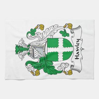 Escudo de la familia de Hawley Toalla De Mano