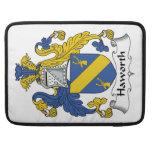 Escudo de la familia de Haworth Funda Macbook Pro