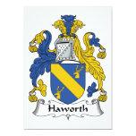 Escudo de la familia de Haworth Invitación 12,7 X 17,8 Cm