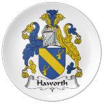 Escudo de la familia de Haworth Plato De Cerámica