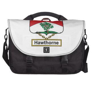 Escudo de la familia de Hawthorne Bolsas De Ordenador