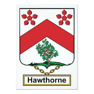 Escudo de la familia de Hawthorne Invitacion Personal