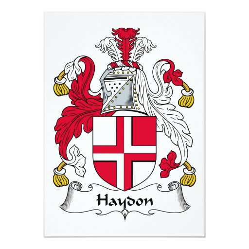 Escudo de la familia de Haydon Invitacion Personal