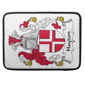 Escudo de la familia de Haydon Fundas Para Macbooks